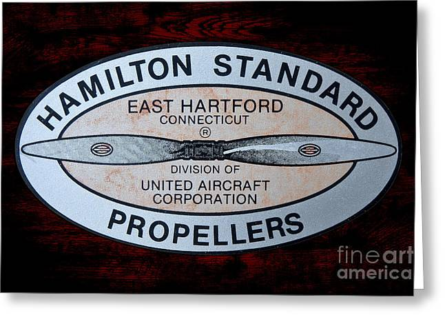 Hamilton Standard East Hartford Greeting Card by Olivier Le Queinec
