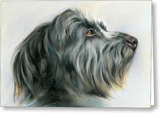 Hamish The Wolfhound Greeting Card