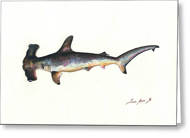 Hammerhead Shark Greeting Card