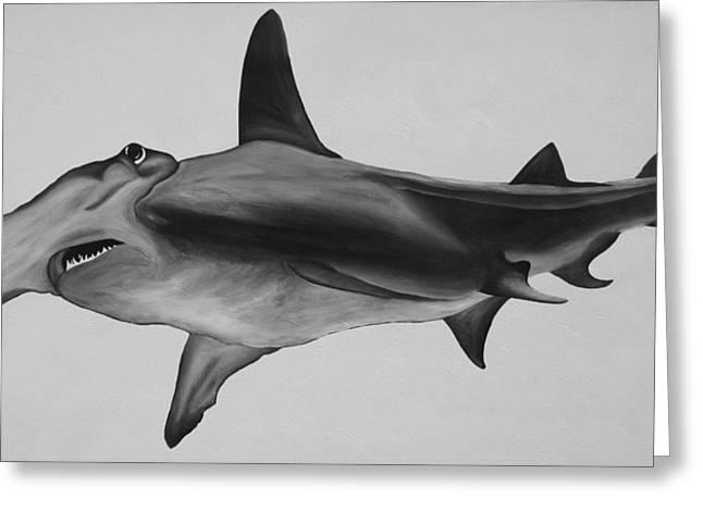Hammerhead Shark Greeting Card by Nick Flavin