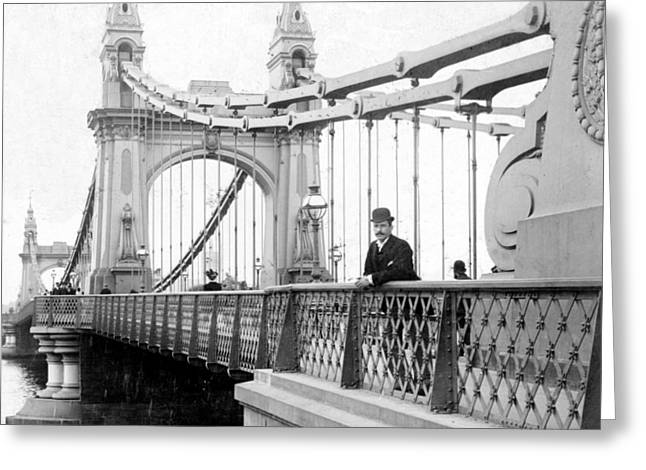 Hammersmith Bridge In London - England - C 1896 Greeting Card
