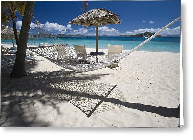 Hammock On The Beach Greeting Card by Hammock on the beach