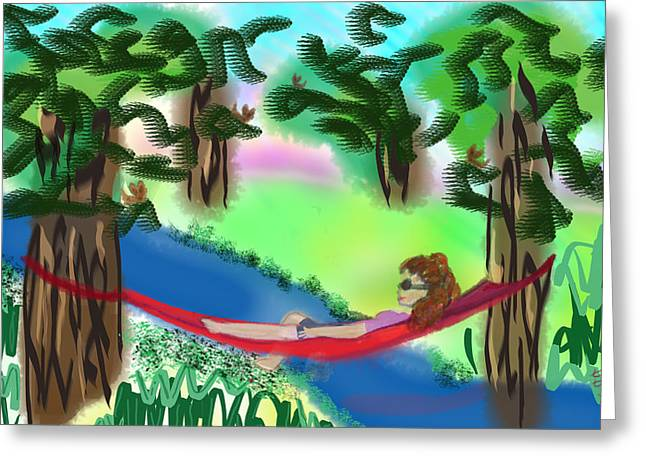Hammock Under The Chihuahua Trees Greeting Card