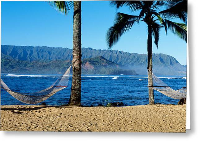 Hammocks Hanalei Bay Kauai Hawaii Greeting Card