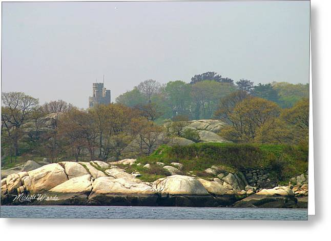 Medieval Style Greeting Cards - Hammond Castle Gloucester Massachusetts Greeting Card by Michelle Wiarda