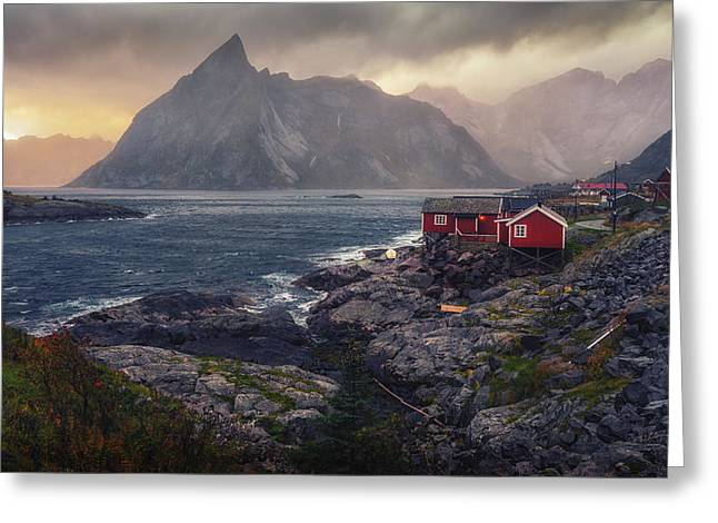 Greeting Card featuring the photograph Hamnoy by James Billings