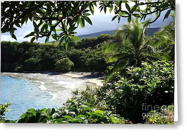 Hamoa Beach Maui Hawaii Greeting Card by Sharon Mau