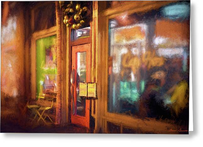 Hampden Cafe Greeting Card by Glenn Gemmell