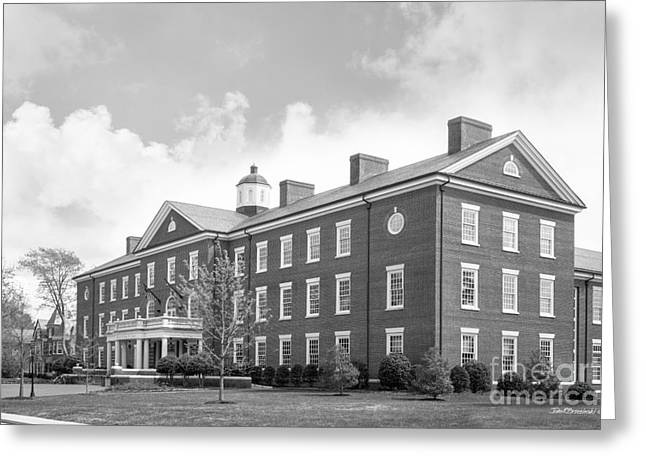 Hampden Sydney College Bortz Library Greeting Card by University Icons