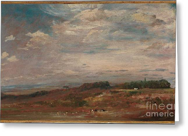 Hampstead Heath With Bathers Greeting Card by Celestial Images