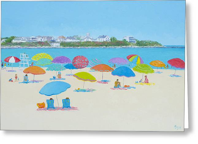 Hampton Beach And Boars Head Greeting Card