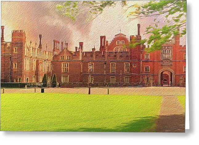 Hampton Court Palace Panorama Greeting Card