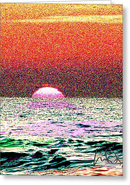 Hamriyah Sunset 2010 Greeting Card by Mike Shepley DA Edin