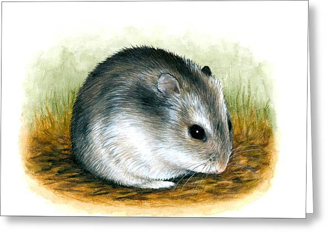 Hamster 25 Greeting Card by Lucie Dumas