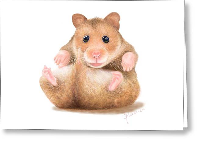 Hamster Greeting Card by Florence Lee