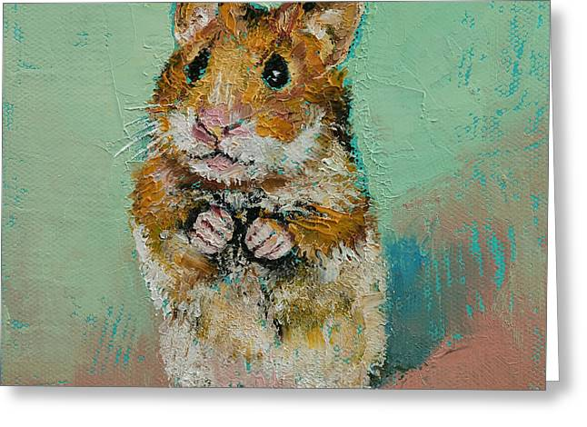 Hamster Greeting Card by Michael Creese