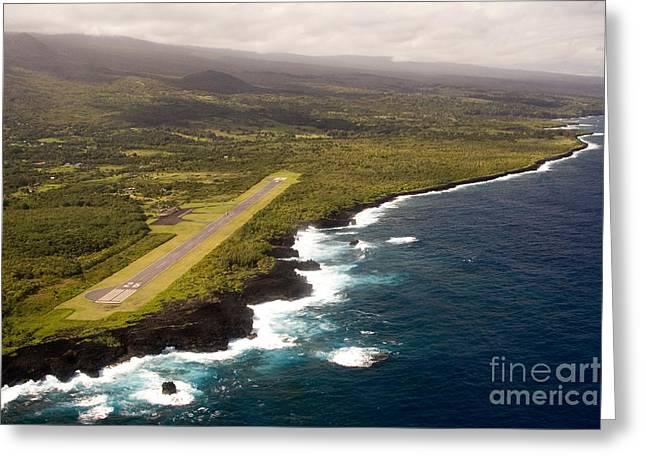 Hana Airstrip Greeting Card by Scott Pellegrin