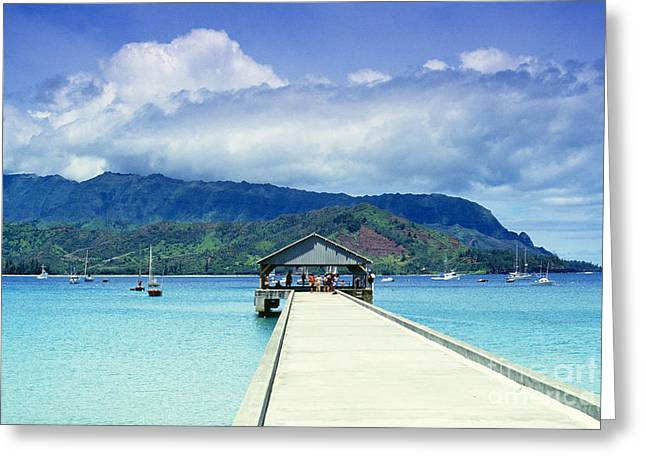 Hanalei Bay And Pier Greeting Card by Vince Cavataio - Printscapes