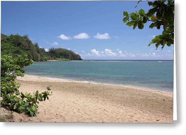 Hanalei Bay Beach Greeting Card