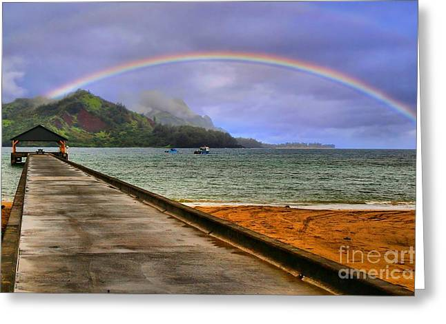 Hanalei Bay Pier Greeting Card