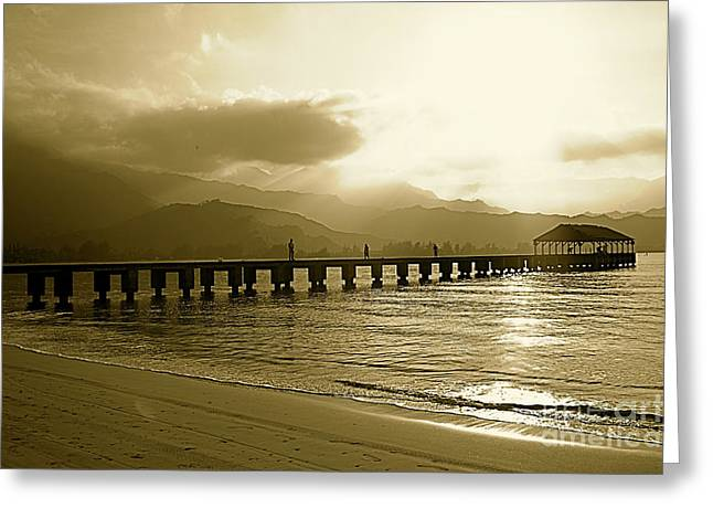 Hanalei Bay Pier Greeting Card