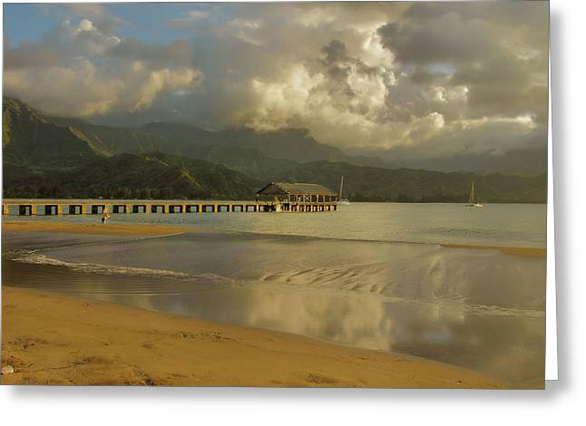 Hanalei Bay Reflections Greeting Card