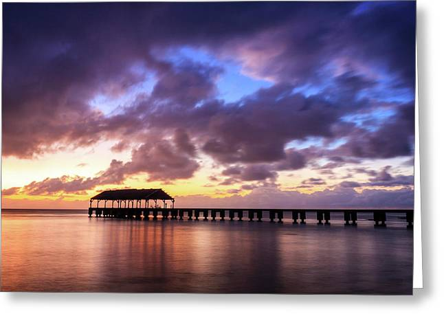 Hanalei Pier Greeting Card by James Eddy