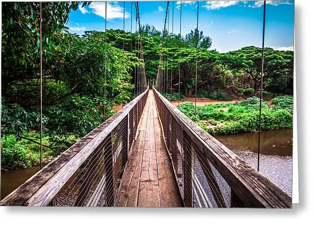 Hanapepe Bridge Greeting Card