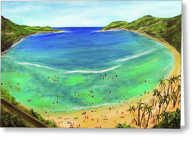 Hanauma Bay Hawaiian #336 Greeting Card by Donald k Hall