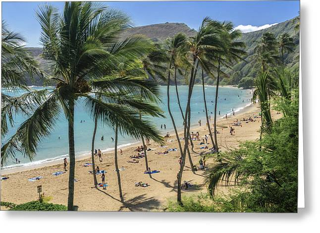 Greeting Card featuring the photograph Hanauma Bay by Steven Sparks