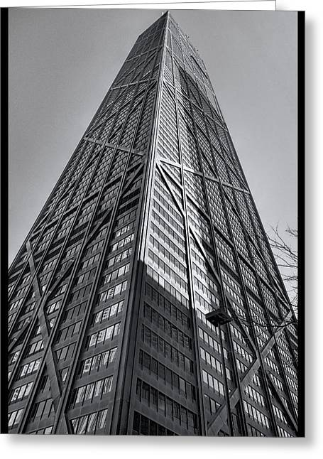 Hancock Chicago Greeting Card by Daniel Hagerman