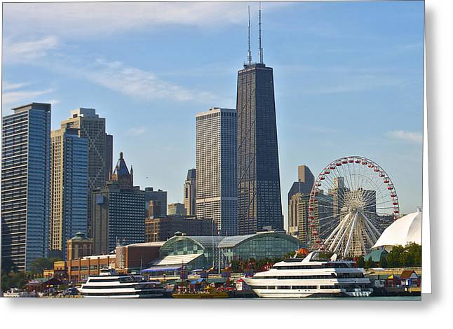 Hancock Over The Pier Greeting Card