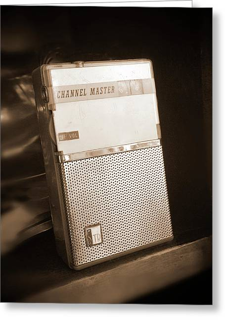 Hand Held Transistor Radio Greeting Card by Mike McGlothlen