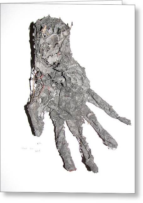 Hands Sculptures Greeting Cards - Hand Greeting Card by Kyle Ethan Fischer