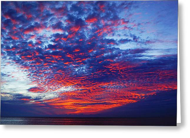 Hand Of God At Sunrise Greeting Card