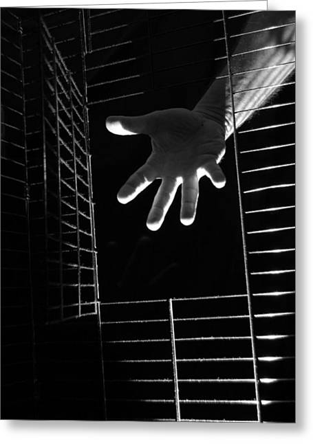 Hand Of Man Two Greeting Card