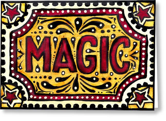 Hand Painted Magic  Greeting Card