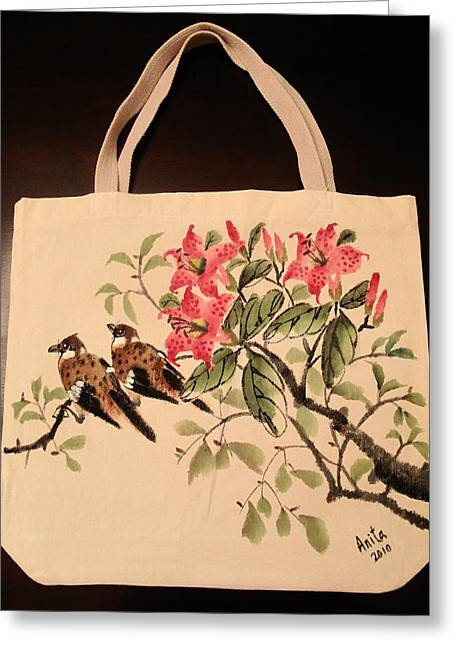 Hand-painted Tote Bag Greeting Card by Anita Lau