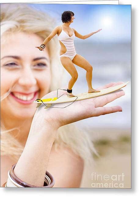 Hand Surfer Greeting Card