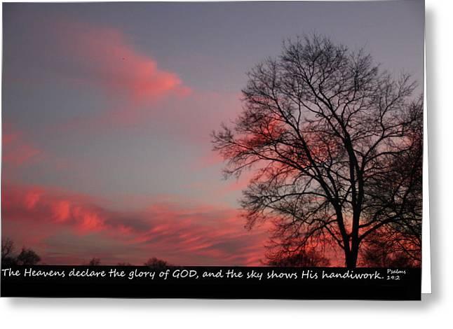 Handiwork Of God Greeting Card by EricaMaxine Price