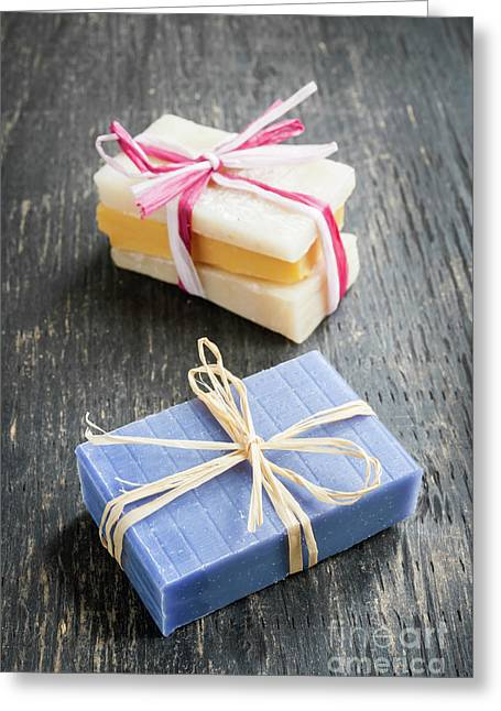 Greeting Card featuring the photograph Handmade Soaps by Elena Elisseeva