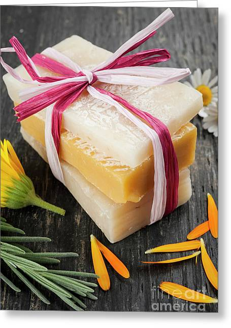 Handmade Soaps With Herbs Greeting Card