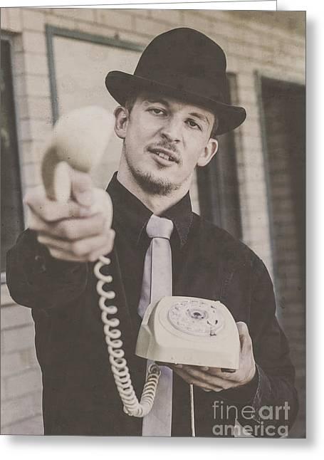 Handover Man Greeting Card by Jorgo Photography - Wall Art Gallery