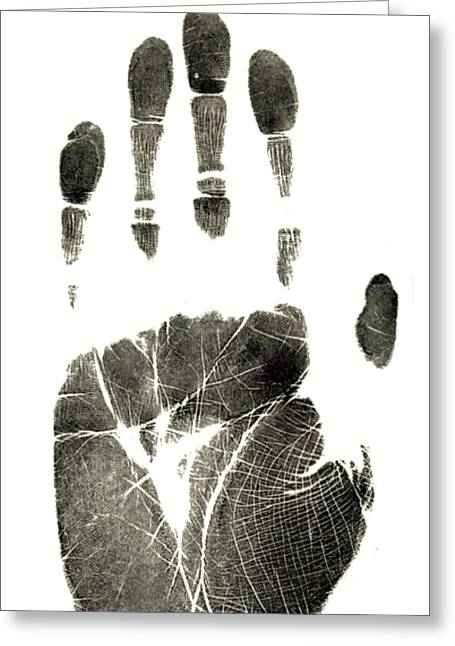 Handprint Phone Case Greeting Card by Edward Fielding