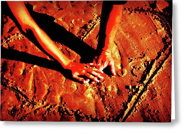 Hands In Love Greeting Card