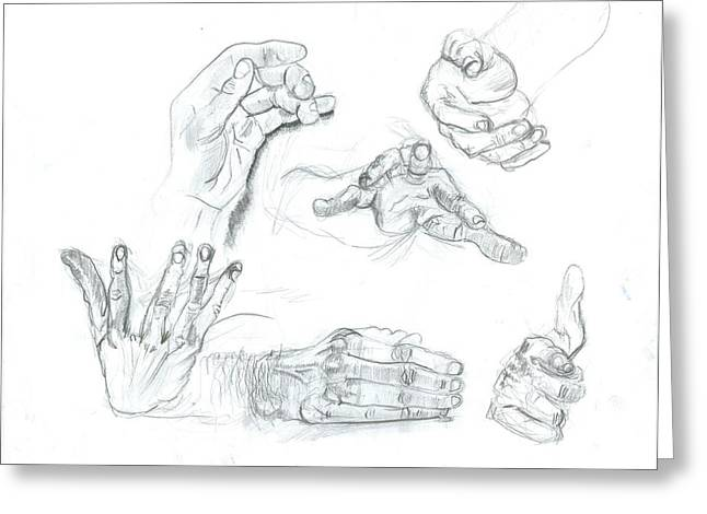 Hands Greeting Card by Joseph  Arico