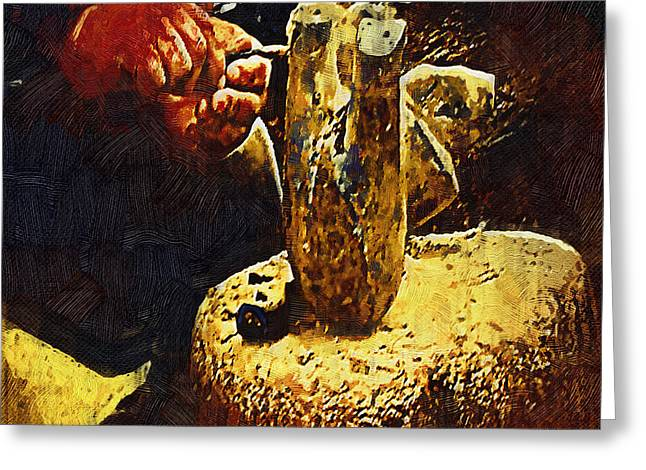 Hands Of An Artist - Gothic Oil Greeting Card by Dale Stillman