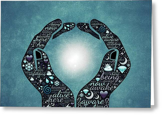 Hands Of Hope Greeting Card