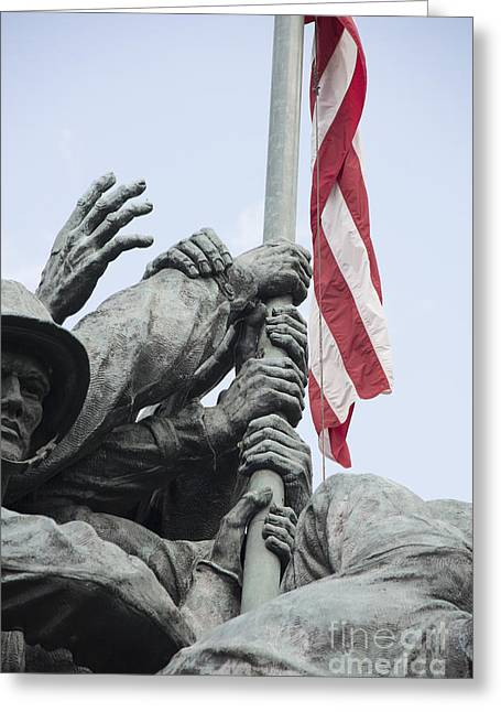 Hands Of Suribachi Greeting Card by David Bearden