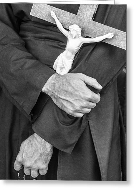 Hands Of The Cross Greeting Card by Steven Bateson